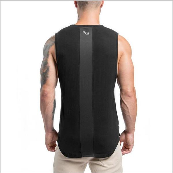 Bodybuilding Tank Top Solid Gym Singlet Muscle Mens Racer-back Bodybuilding Stringers Tank Tops workout Singlet Sleeveless Shirt