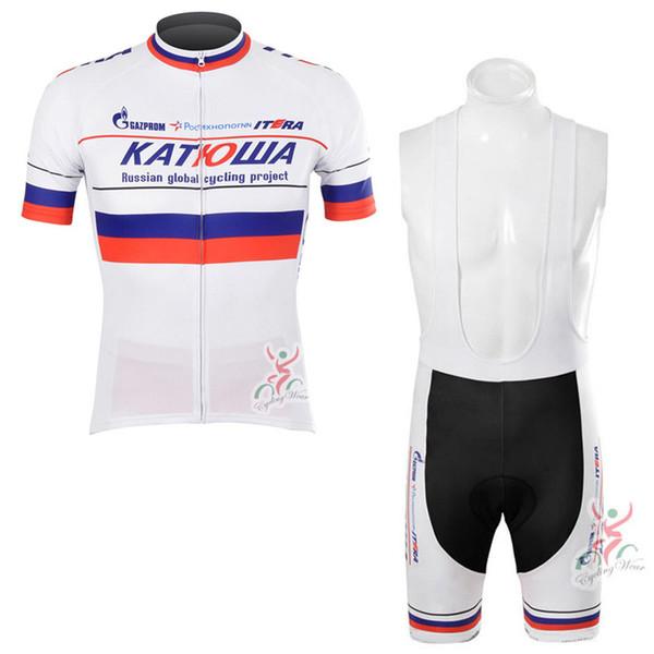 2019 Katusha Takımı Yeni Erkekler Pro Team Bisiklet Giyim Kısa Kollu Jersey Önlüğü Şort Set Dağ Bisikleti Giyim Ropa Ciclismo 02012