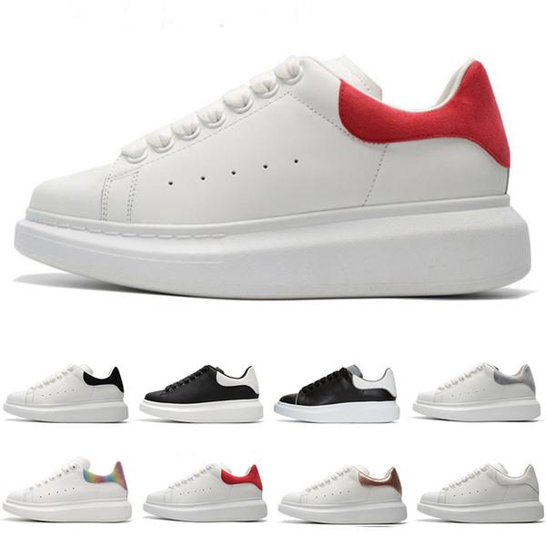 2019 Moda Lüks Kırmızı Süet Rahat Ayakkabılar Erkek Kadın Dantel Up Tasarımcı Konfor Pretty Kız Deri Rahat Spor Sneakers Boyutu 36-44