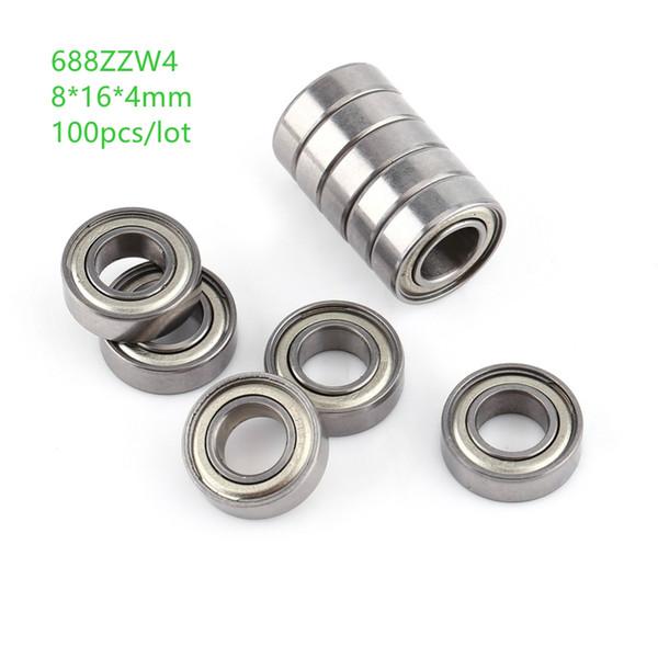 100 adet 688ZZW4 688W4ZZ 8x16x4mm sabit bilyalı rulmanlar Minyatür rulman 8 * 16 * 4mm