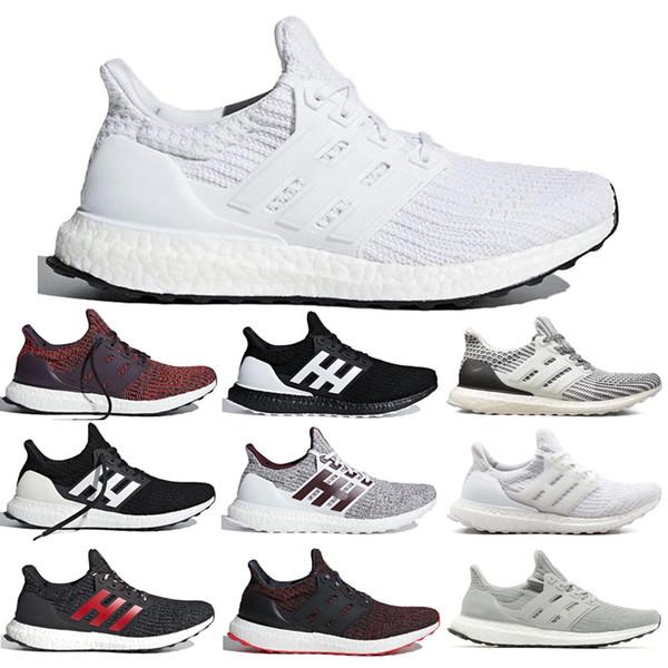 Adidas Ultra Boost 4.0 UB Shoes Erkekler kadınlar için Koşu Ayakkabı Beyaz Siyah CNY Stripesinizi Göstermek Şeker Kamışı Donanma Bordo Erkek Trainer Spor Sneakers 36-45