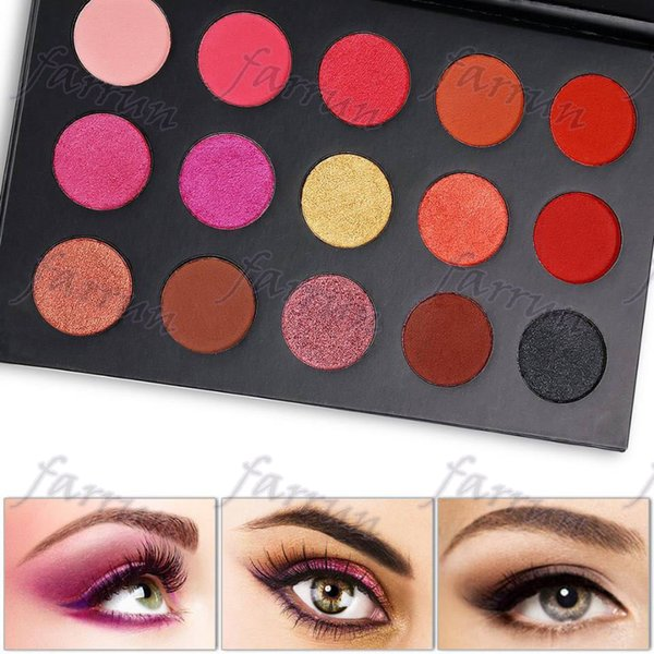 private label 15 color wet powder eyeshadow matte and shimmer eaasy to makeup long lasting 205g 19*12.5*1.5cm no logo OEM