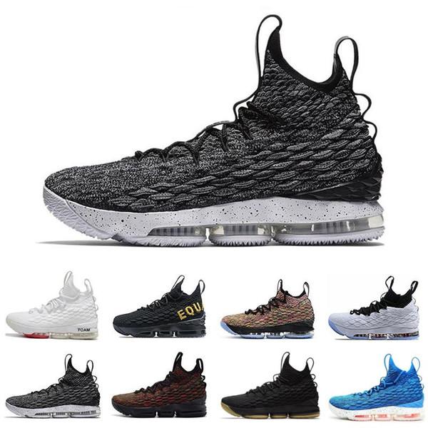 buy online ec661 2b568 Compre Nike Lebron XV EP 15 Cavs Equidad LB 15 15s Hombres Baloncesto  Zapatos Nlack Blanco Deportes Deportivos Zapatillas De Deporte 15s Mens  Scarpe ...
