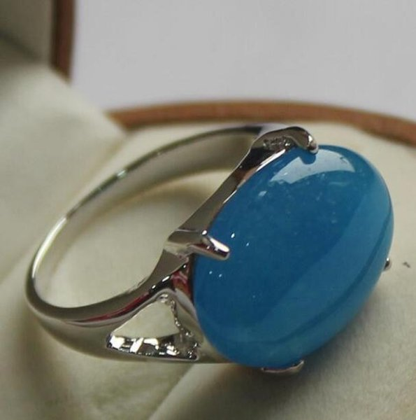 Jewelryr Jade Ring Fashion jewelry lady's beautiful jades silver plated ring 7/8/9# Free Shipping
