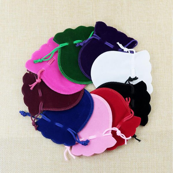 100pcs/lot 7x9cm Velvet Drawstring Jewelry Gifts Bag Pouches Small Fit Necklace Bracelet Jewelry Package Presents Bags