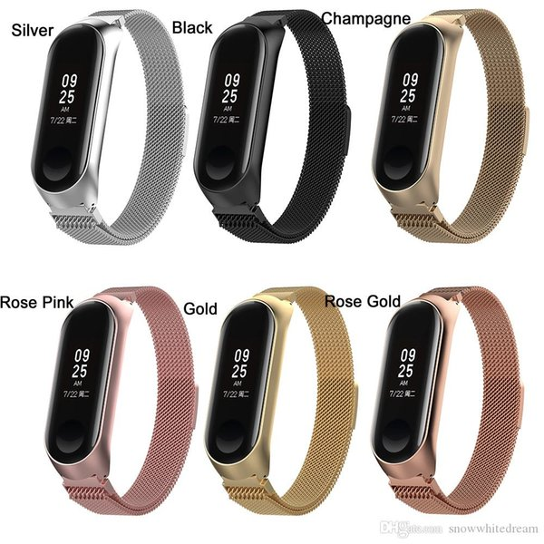 New watch band for xiaomi mi band 4 3 band with frame milane e loop tainle teel wri tband replacement trap acce orie