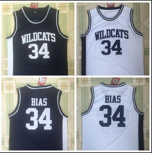 Ncaa Wildcats High School 34 Camiseta de baloncesto negra bordada de Lenbaias High School S-XXL