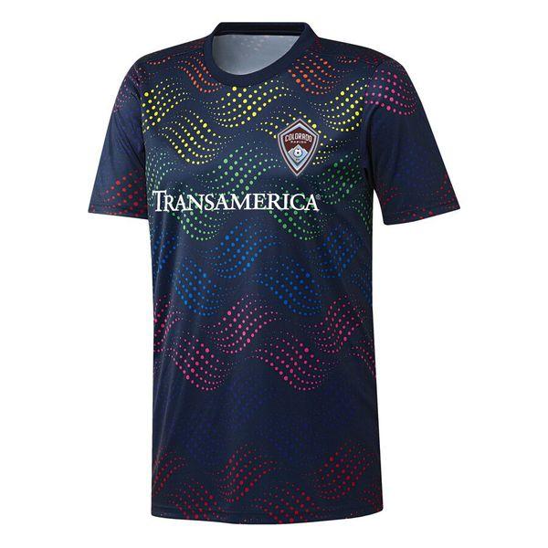 2019 2020 Colorado MLS New Pride Pre-Match Thailand Top soccer jersey 19 20 Colorado Navy Pride football shirt Running Jersey