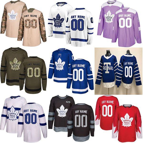 2019 new toronto maple leaf hockey jer ey multiple tyle men cu tom any name any number hockey jer ey, Black;red