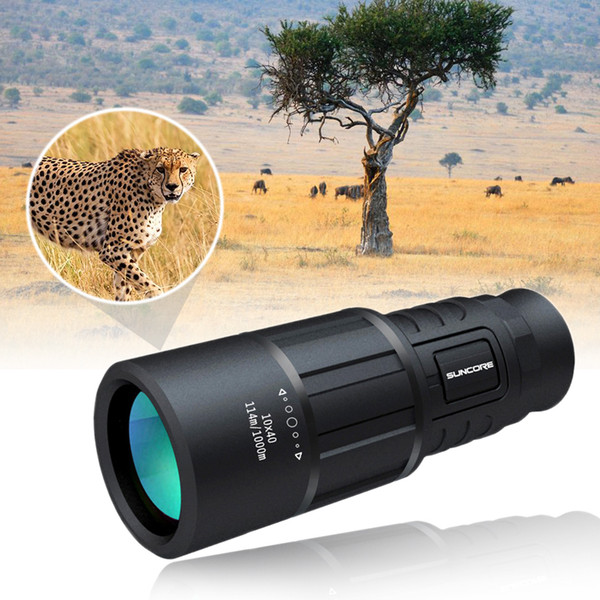 10-3000m hd zoom monocular telescope 10x40 magnification black dolphin outdoor camping survival hunting telescope with lanyard thumbnail