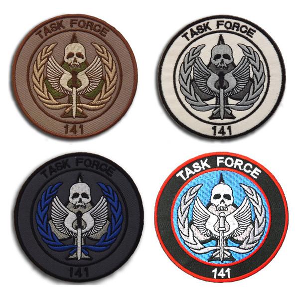 Долг 141 Elite Состав команды SAS Вышитые Тактические Патчи Значки для одежды Одежда HOOK / LOOP 8.5cm