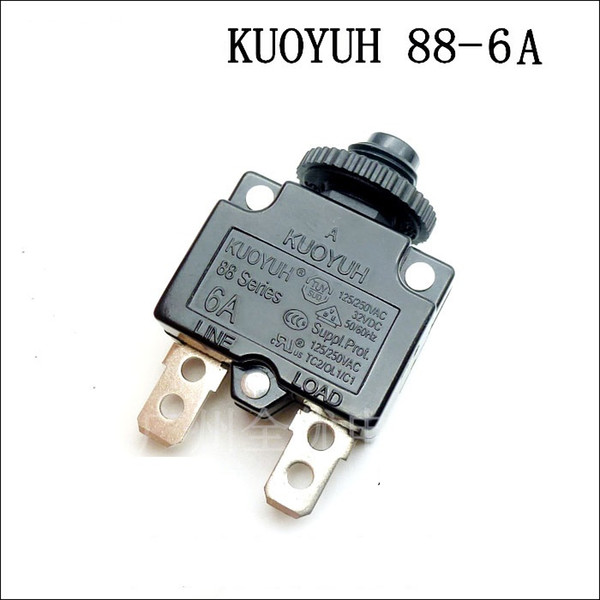 top popular Taiwan KUOYUH Overcurrent Protector Overload Switch 88 Series 6A 2021