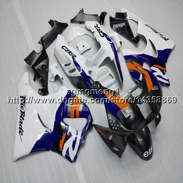 Presentes + Parafusos azul branco motocicleta artigo para HONDA CBR900RR 1994 1995 1996 1997 CBR893RR 94-97 ABS Carenagem De Plástico