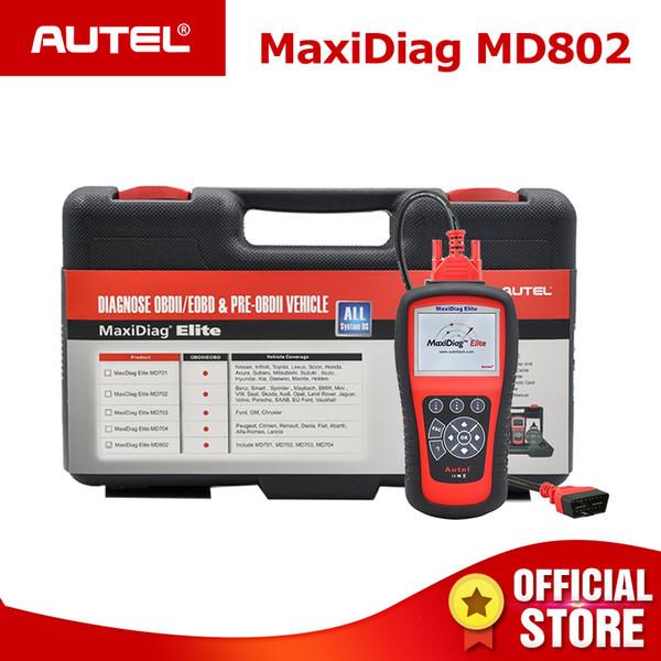 Autel MaxiDiag Elite MD802 Pro All Systems OBDII Car Auto Diagnostic Tool ODB2 OBD2 Scanner OBD 2 Code Reader PK MD805