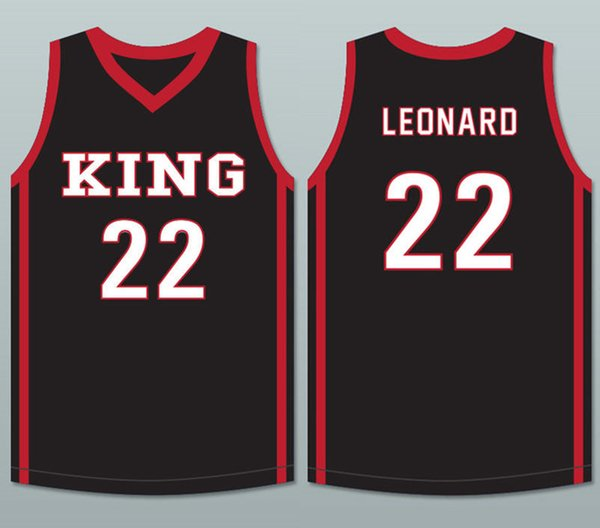 Kawhi Leonard #22 Martin Luther King High School Wolves White Red Black Retro Basketball Jersey Men's Stitched Custom Number Name Jerseys