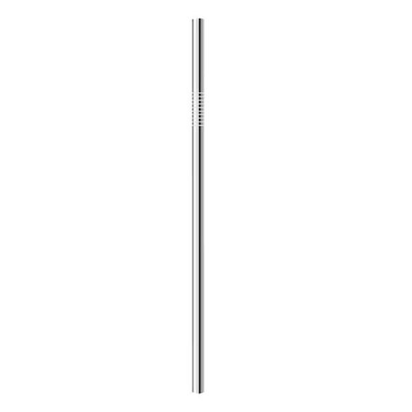 1pcs aço inoxidável de palha (6 * 215 milímetros)
