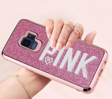 Couverture rose design de mode Flash 3D broderie amour rose cas de téléphone en poudre en métal pour iPhone X, iPhone 8, 7, 6 Plus