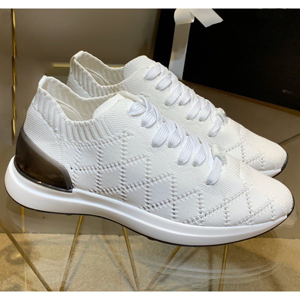 13 Color Arrival Luxury Fashion Super Designer Fashion knit Lace-up Women Sneakers Cheap Best knit Trainers Women Casual Sock Shoes