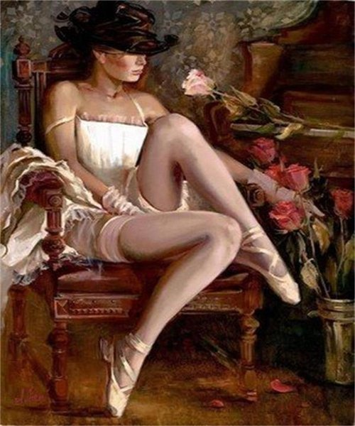 High Quality Handpainted & HD Print Impressionist Portrait Art Oil Painting Hot Sexy Woman On Canvas Wall Art Home Office Deco p61