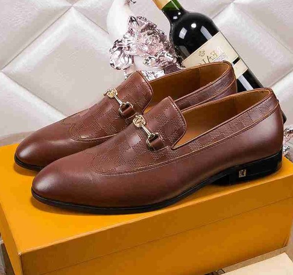Brand men cow leather Formal Business Suit shoe Lace-Up Office dress Wedding shoe Moccasins Carving Embroidered Bee Horsebit Oxfords,38-44