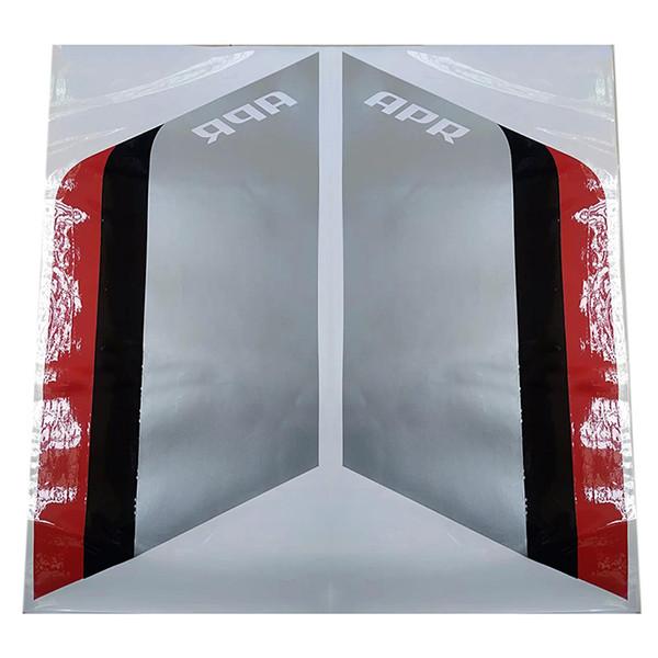 Серебристый Черный Красный