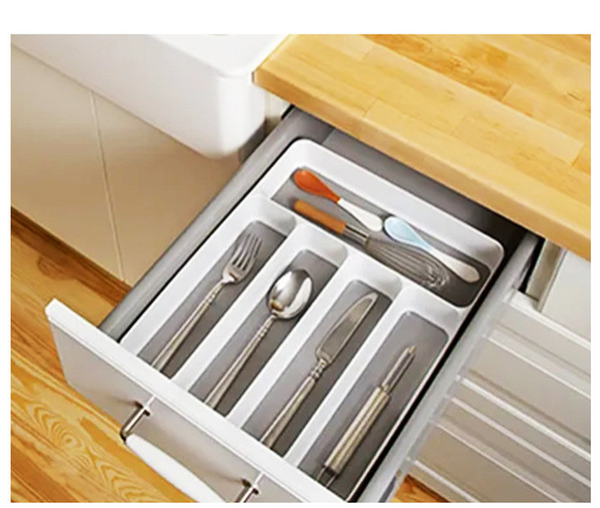 2019 Storage Box Kitchen Drawer Organizer Tray Spoon Knife Fork Cutlery Separation Finishing Storage Box From Sintevan 1023 Dhgatecom
