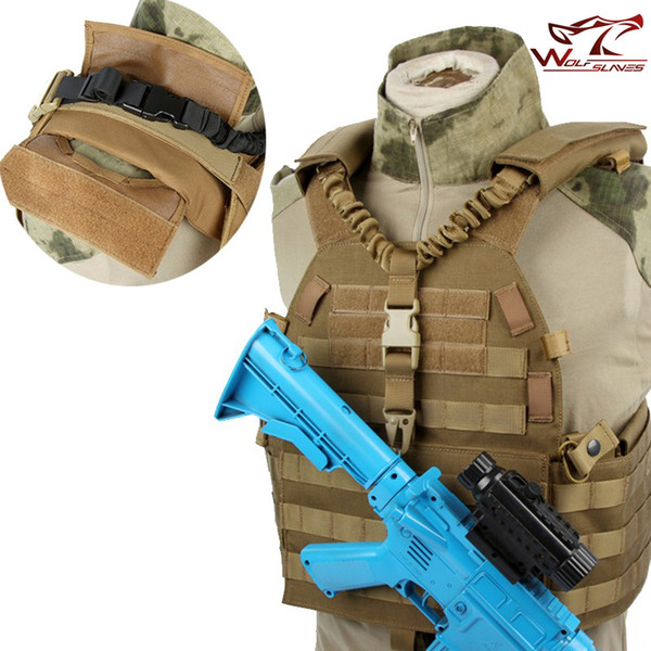 Réglable Militaire Tactique Pistolet Sling Single Point Quick Release Bungee Rifle Ceinture D'épaule Chasse Starp Airsoft M4 AR15