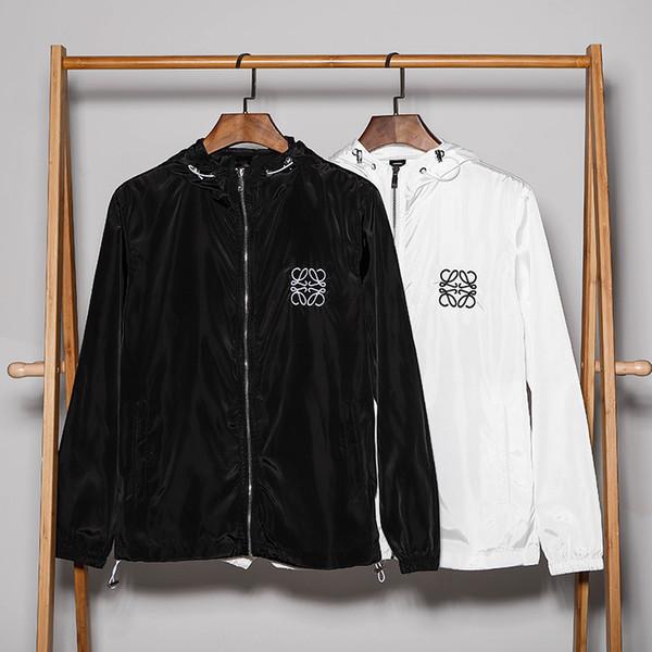 2019 nouvelle veste de protection solaire à capuche hommes et femmes de haute qualité fermeture à glissière chemise couple rue jogging chemise en gros