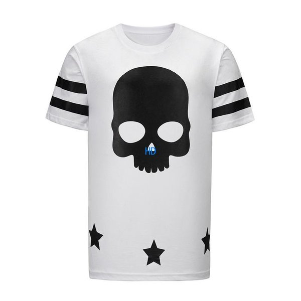 19ss popular MEN T Shirt Fashion Short Sleeve t-shirts Clothing Casual Skull Letter print shorts style t-shirt Clothing