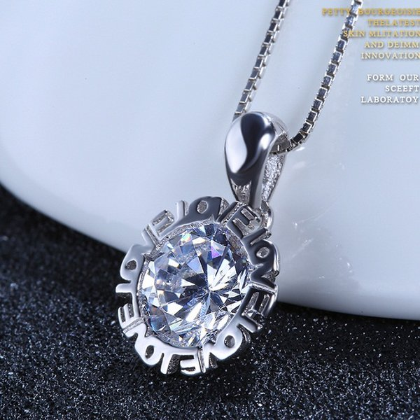A424 white crystal only pendants