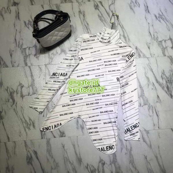 Frauen Weiß Und Schwarz Tops Hemd Stehkragen Bluse Unregelmäßige Langarmhemd Flügelärmeln Brief Bodenbildung Hemd Bluse Kleider