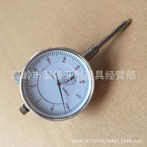top popular Pointer Dial Indicator 0-25MM 0.01MM With Ear Locking Mechanical Pointer Large Range Gauge 2021