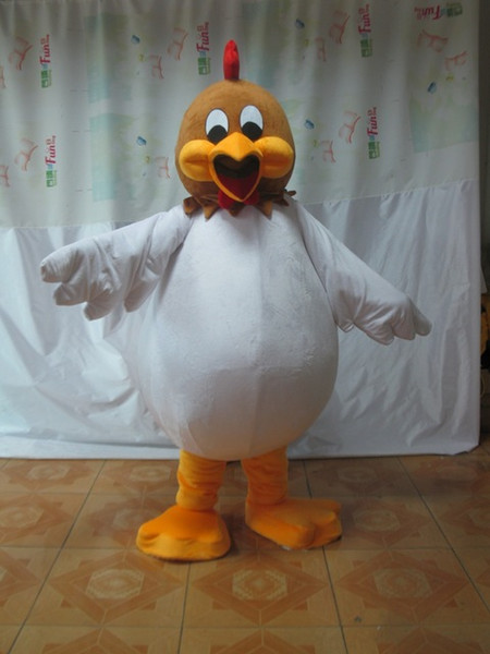 Cute BIG MOUTH Rooster LONG PLUSH Fancy Dress Mascot Costume Adult Characterfor Halloween party event