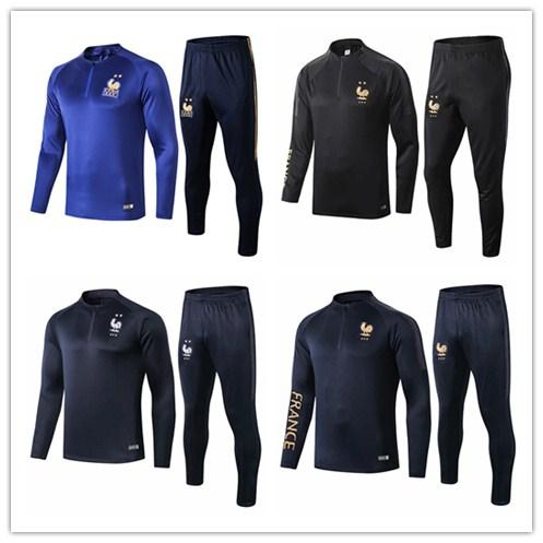 top popular 2019-20 FFF SURVETEMENT MAILLOT DE FOOT Portugal SURVETEMENT FOOTBALL 2 STAR GRIEZMANN MBAPPE Tracksuits Training Suits 2020