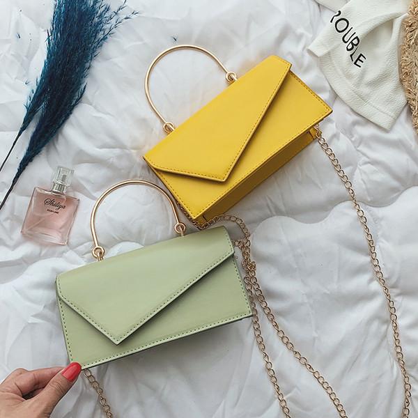 2019 High-quality PU Leather Chain Mobile Phone Shoulder bags Small Square Bag Ladies Fashion Handbag Shoulder bag Messenger