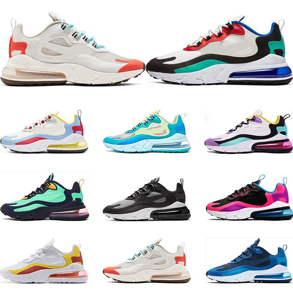 2019 New react men running shoes top quality BAUHAUS OPTICAL BLUE VOID fashion mens trainer breathable sports sneakers size 36-45
