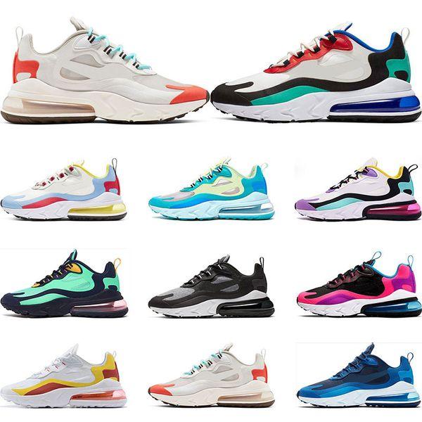 nike air max 270 react 2019 New react men running shoes qualidade superior BAUHAUS OPTICAL AZUL VOID moda mens trainer respirável tênis esportivos tamanho 36-45