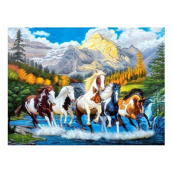 "Dpsprue Full Square/Round Drill 5D DIY Diamond Painting""Animal Horse"" 3D Embroidery Cross Stitch Mosaic Rhinestone Home Decor Gift 15"