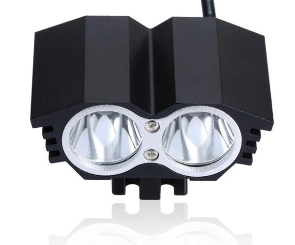 Bicycle Front Light LED MTB Mountain Cycling Bike Light Spotlight Lamp A21 5000 Lumen 2x U2 LED with 4x18650 Battery #163913