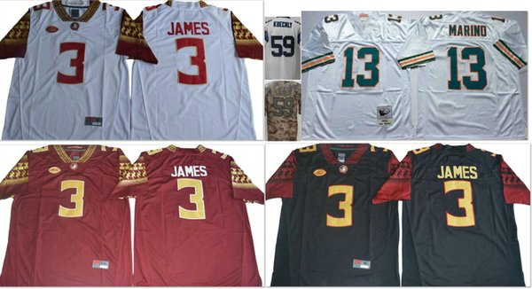quality design 4606a 37c9d 2019 Florida State Seminoles #3 Derwin James College Mens Vintage 59 Luke  Kuechly 13 Dan Marino Elite Salute To Service American Football Jerseys  From ...