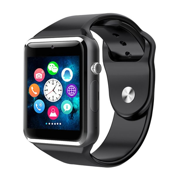 Высокое качество A1 Смарт-часы Bluetooth SmartWatch часы Синхронизация Уведомление Поддержка SIM-карты TF Связь для IOS iPhone Samsung Android Phone