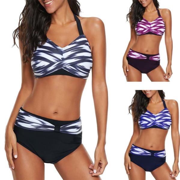 Frauen Bikini Bademode hohe Taille Badeanzüge Bademode Push Up Bikini Set Frauen Plus Size 5XL Badeanzug