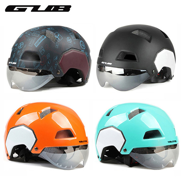 GUB V3 Helmet With Lens 55-61cm Fashion Style Half-covered Bike Helmet Motorcycle solid Safety Equipment Cycling Accessories