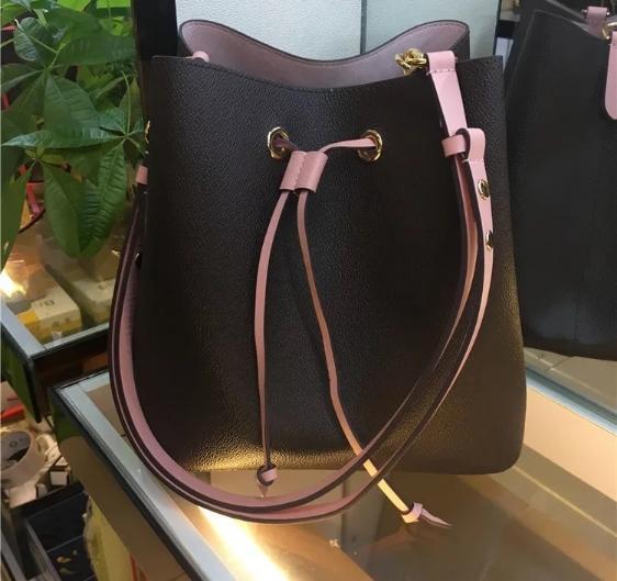 Free Shipping!Classic Ladies Shoulder Bags Leather Fashion Shoulder Bag Bucket Bags Designer Messenger Hopping Purse 44020