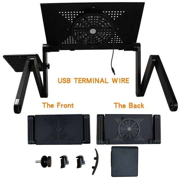 Lapdesks Laptop Table Table مع مكتب محكم مريح قابل للطي قابل للتعديل لمكتب دفتر محمول ل Ultrabook أو Netbook أو الجهاز اللوحي مع لوحة الماوس