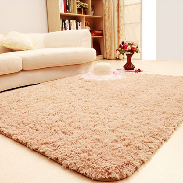 new solid color faux fur rugs plush fluffy rectangle carpet for living room bedroom large modern round rug home decorative mat - from $28.07
