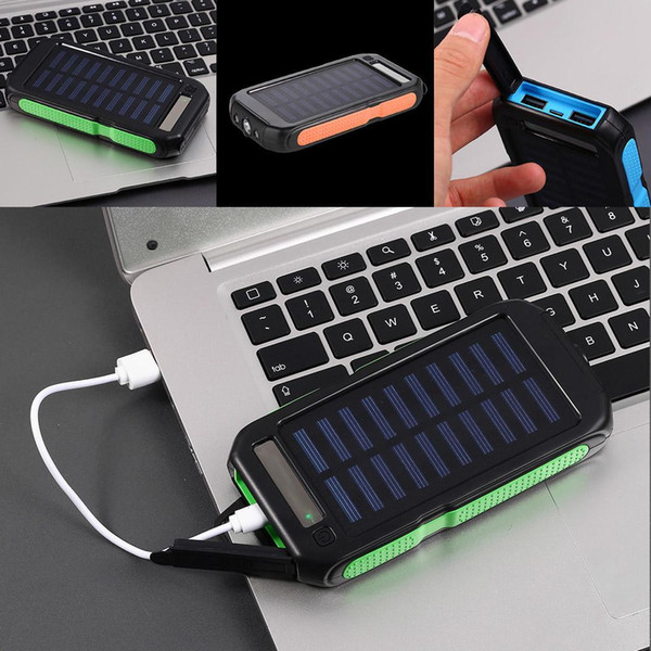 10000mAh Solar External Bank Energy Dual Li USB Battery mAh Portable interface in Power dual Polymer Built General Charger