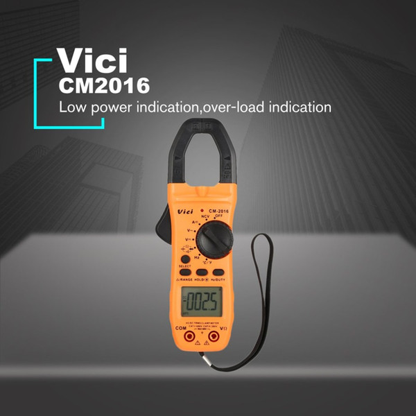 Vici CM-2016 Handheld Digital Clamp Meter Multimeter AC/DC Volt Current Voltage Ohm NCV Temperature Tester Resistance Ammeter