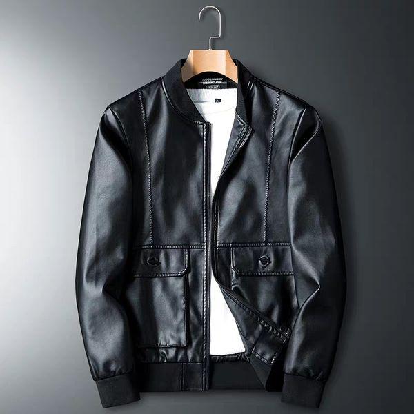 2019 New Fashion Luxury Mens Jackets Clothing Locomotive Men Clothing Coat Men'S Leather Jacket Motorcycle Overcoat For Male Chaqueta