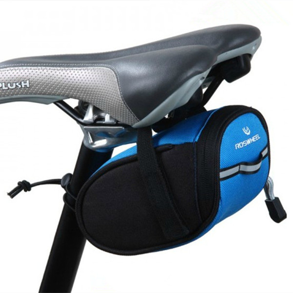 Waterproof Mini Mountain Bike Saddle Bag Pouchs Road Bicycle Back Seat Tail Package Outdoor Cycling Mini Saddle Seatpost Bag